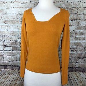 Dana Buchman Orange Long Sleeve Top